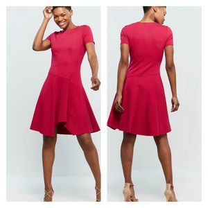 Eliza J Pink Asymmetrical Fit And Flare Dress NEW